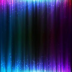 Blue shining technology lights vector sound background