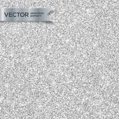 Shining silver glitter texture vector seamless pattern