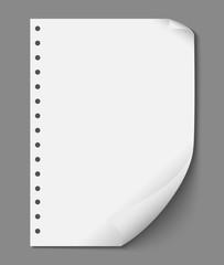 Empty Paper Sheet Design