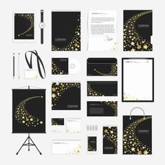 Yellow stars corporate identity template.
