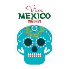 day of dead skull mexico festive design vector illustration eps 10