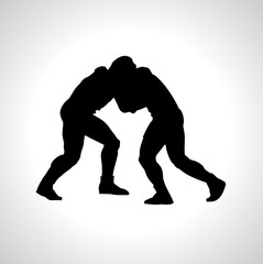 wrestling icon. wrestling sign