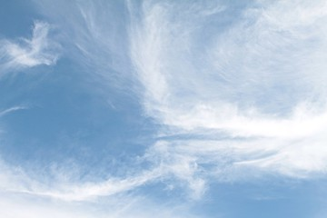 Blue sky background with white cloud, white cloud in the blue sky