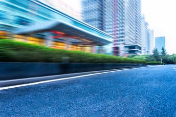 clean asphalt road in suzhou city,china.