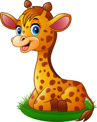 Cartoon baby giraffe