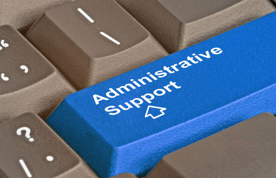 Keyboard with key for administrative support