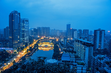 The Chinese view of chengdu city