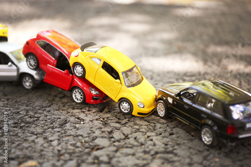 Close Up Of Toy Cars Crash Stock Photo And Royalty Free Images On