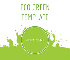Eco green organic natural template