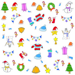 Doodle christmas backgrounds vector art