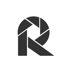 R letter initial photography logo design