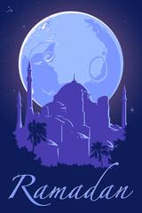 Blue ramadan Hagia Sophia poster