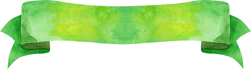 Watercolor green banner