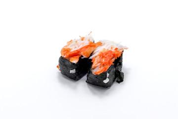 Sushi kani crab meat isolated on white background