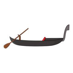 Gondola icon in cartoon style isolated on white background. Maritime transport symbol vector illustration