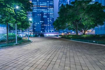 Fototapete - hong kong night scene