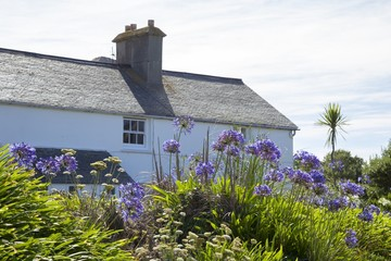 Scillonian cottage, Tresco, Isles of Scilly, England