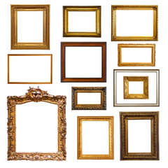 Set of  picture  frames. Isolated on white background