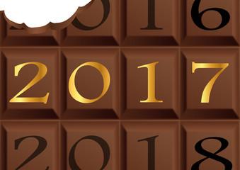 2017 - Chocolat - Carte de Vœux