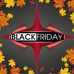 Scrolled Paper Cover 4 Corner Black Friday Foliage