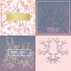 Printable spring wall art with floral pattern and typography set