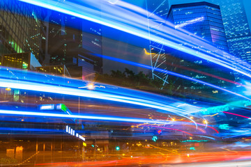 hong kong night cityscape,china.