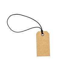 Cardboard price tag or sales label