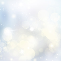 Blue and White Frost Lights Festive background with light beams