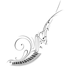 Simplified vector illustration - Music