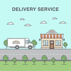 Bread delivery service illustration.