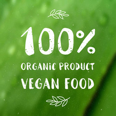 Hand-drawn typographic elements for design. Natural products and vegan food labels