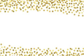 Gold confetti. Vector background.