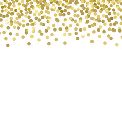 Gold confetti. Vector background.