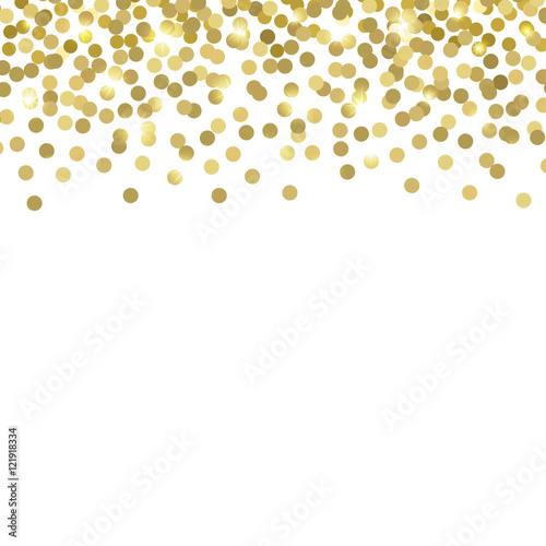 Quot Gold Confetti Vector Background Quot Stock Image And