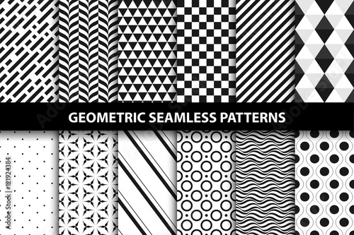 Geometric Patterns Vector Seamless Collection Stock Image And Delectable Free Vector Geometric Patterns