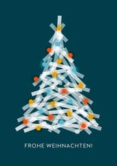 Weihnachtsbaum, Grafik, Weihnachtsgruß, geometrische Formen