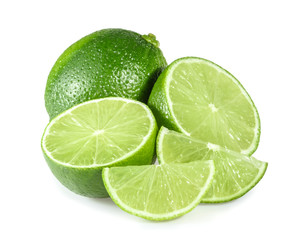 Lime isolated