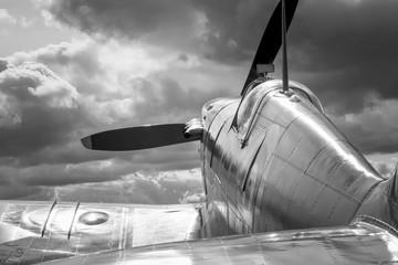 Türaufkleber Flugzeug Supermarine Spitfire - mono