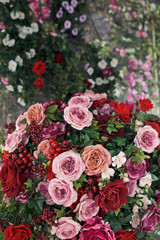exquisite floral ikebanas with roses