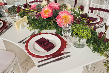 look of the serving wedding table