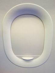 Airplane window is closed