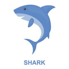 Shark icon cartoon. Singe animal icon from the big animals set.