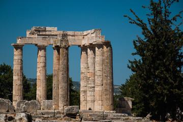 The Temple of Zeus in Nemea, Greece