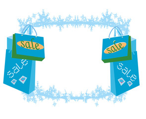 shopping bag - winter sale card
