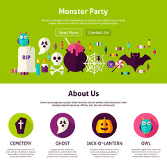 Monster Party Web Design Template