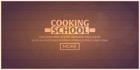 Cooking school, courses. Culinary class vector illustration.