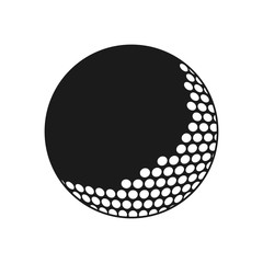 Ball icon. Golf sport competition and hobby theme. Isolated design. Vector illustration