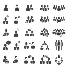 People icons. Business and social groups signs vector