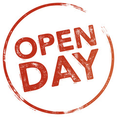 Round Rubber Stamp - OPEN DAY