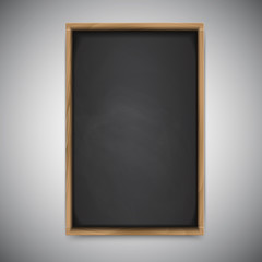 Menu chalkboard on white background